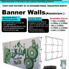 Budget Branding. Banner Wall. Product Pa