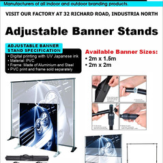 Budget Branding. Adjustable Banner Stand
