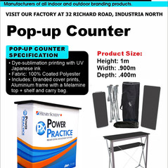 Budget Branding. Pop-up Counter. Product