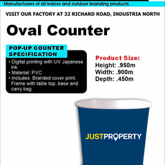 Budget Branding. Oval Counter. Product P