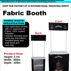 Budget Branding. Fabric Booth. Product P