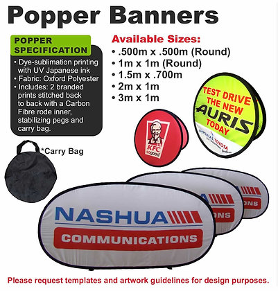 Popper Banners