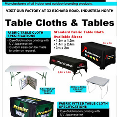 Budget Branding. Table Cloth & Tables. P