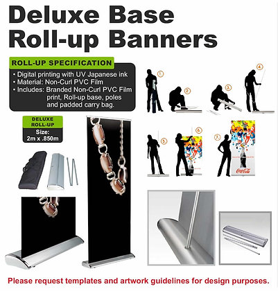 Deluxe Base Roll-up Banners