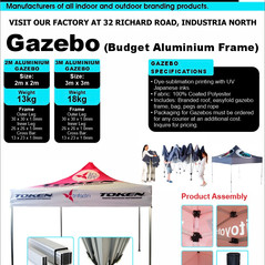 Budget Branding. Budget Alu Gazebo. Prod