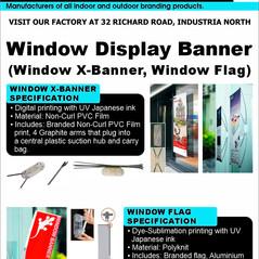 Budget Branding. Window Display Banners.