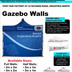 Budget Branding. Gazebo Walls. Product P