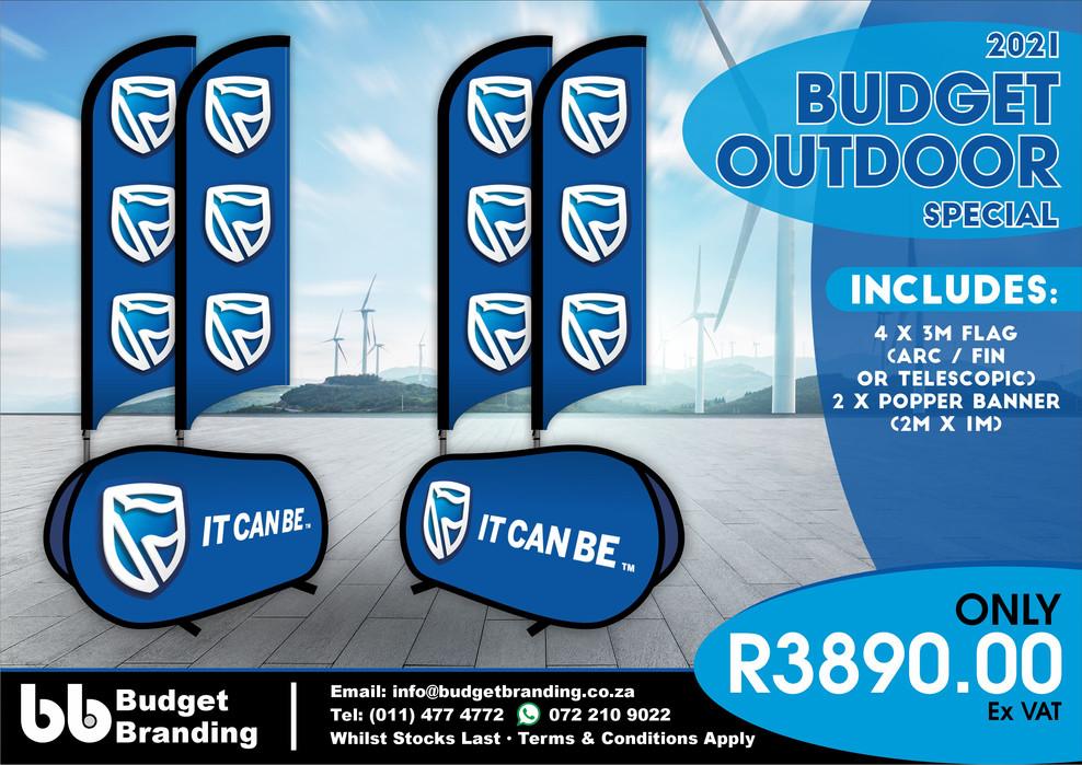 Budget Branding. Budget Outdoor Special