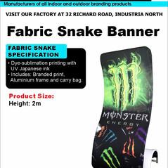 Budget Branding. Snake Banner. Product P