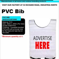 Budget Branding. PVC Bib. Product Page.