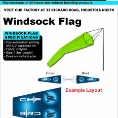 Budget Branding. Windsock. Product Page.