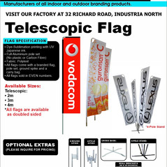 Budget Branding. Telescopic Flag. Produc