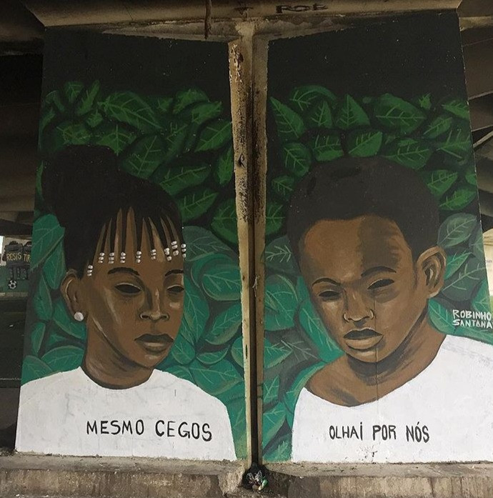 Mesmo Cegos, Olhai por Nós, Grafiti, 2018