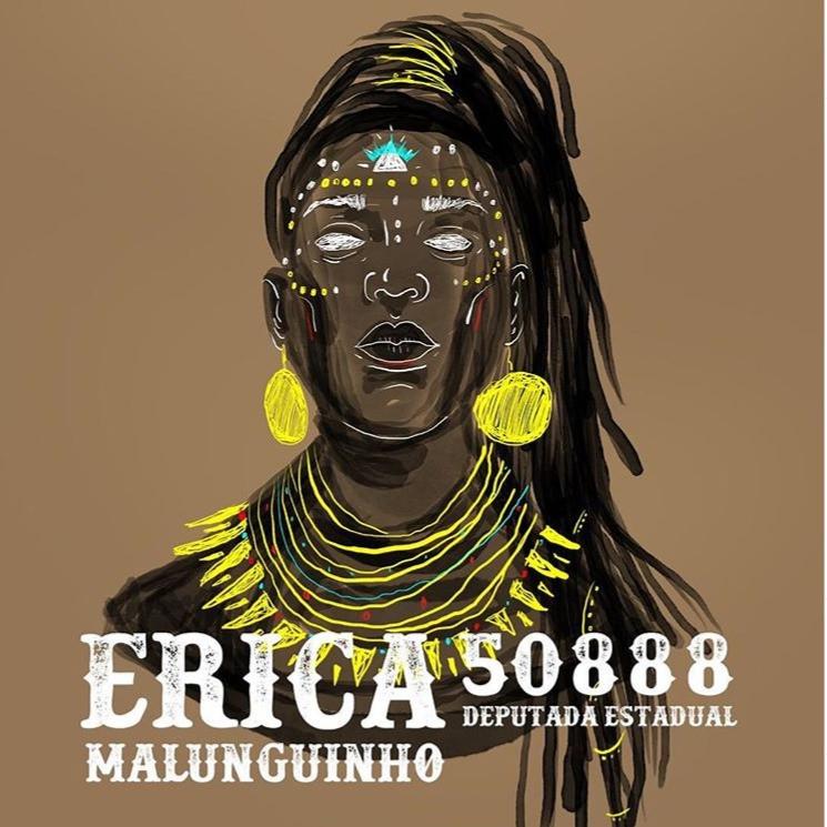 Erica Malunguinho, ilustração digital, 2018