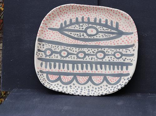 плоская ваза для домашнего хлеба и сыра