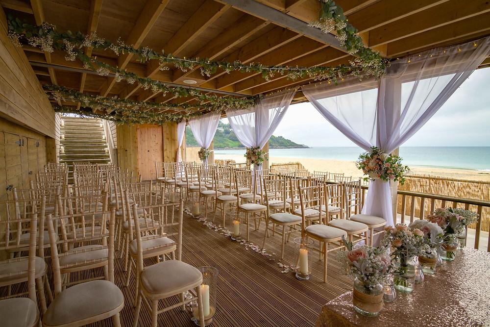 Carbis Bay Hotel Cornwall beach intimate wedding venue