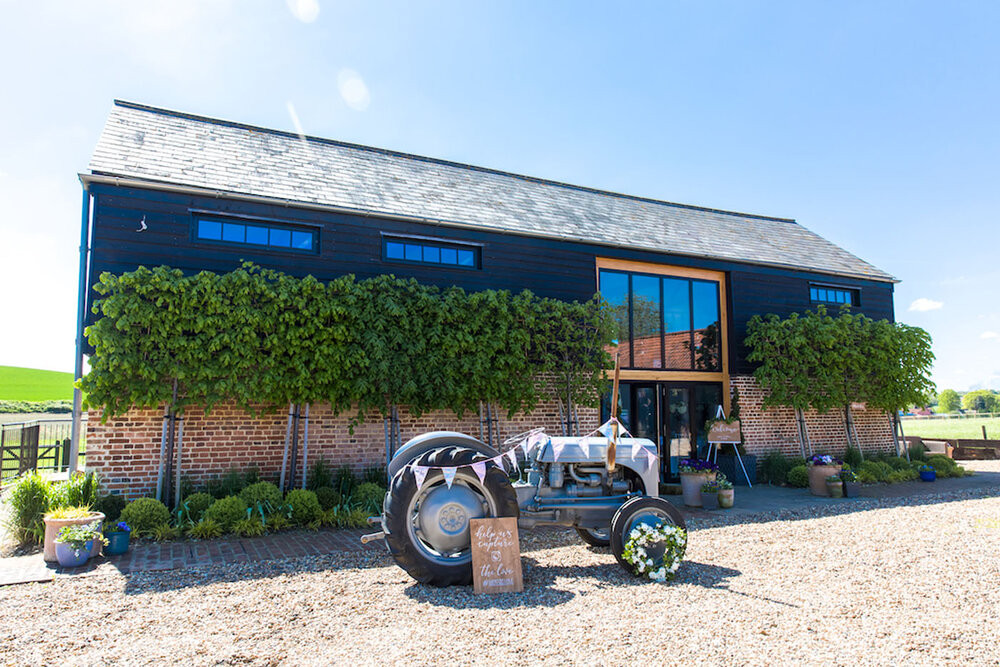 The Hare's Field intimate wedding venue in Essex