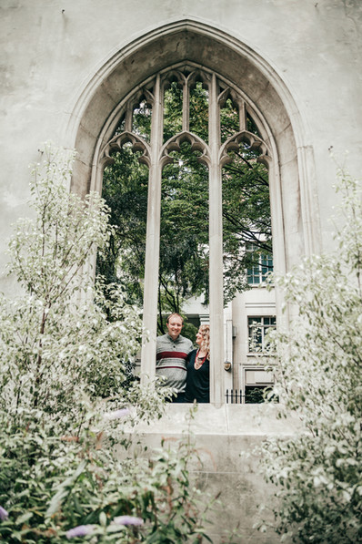 St Dunstan in the East London engagement photography