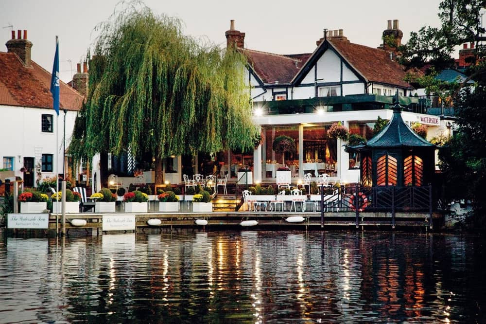 The Waterside Inn in Maidenhead, an intimate wedding venue in Berkshire
