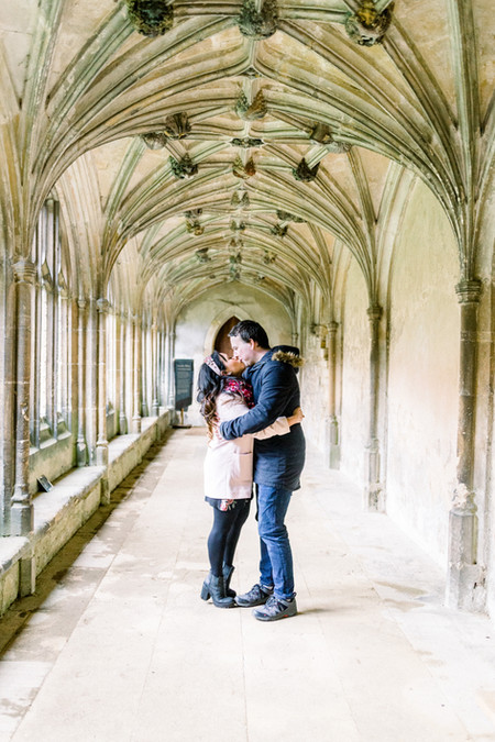 Lacock Abbey engagement shoot in Wiltshire