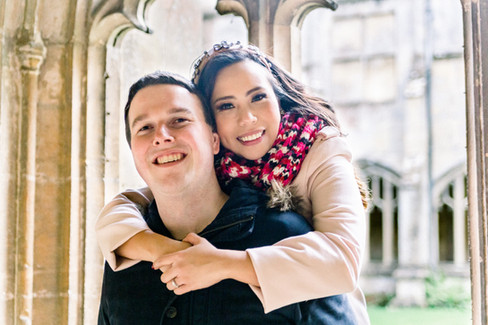 Engagement photography at Lacock Abbey