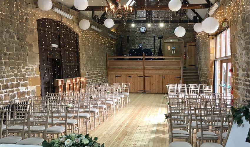 The Barns Hunsbury Hill intimate rustic wedding venue Northamptonshire