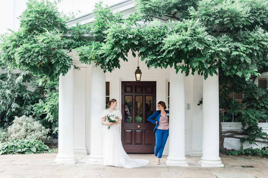 Two brides getting married at Pembroke Lodge