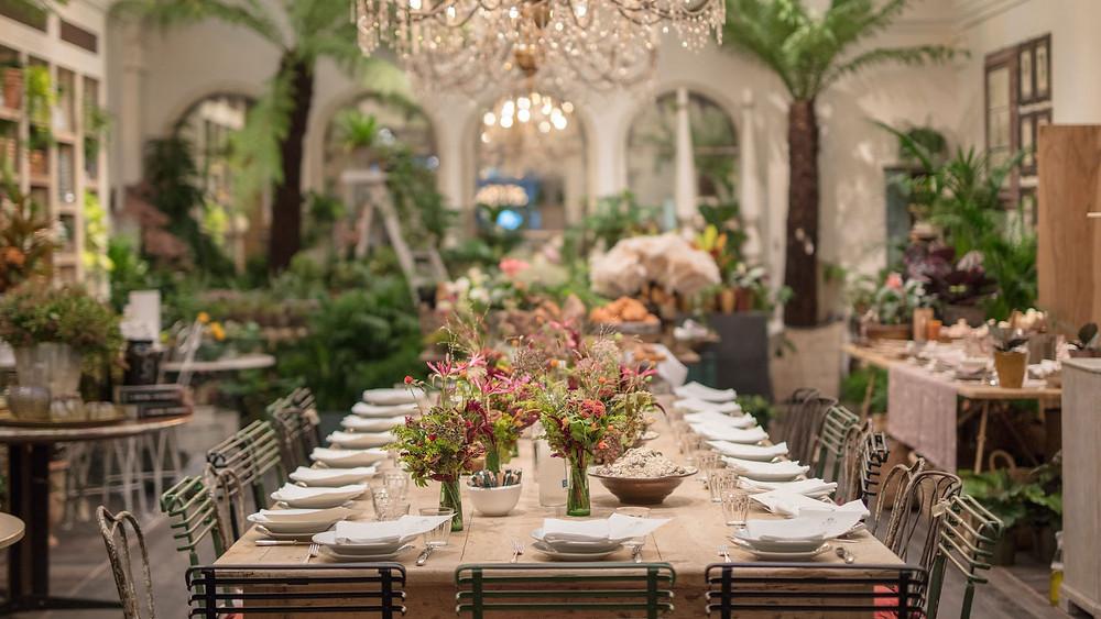 Petersham Nurseries intimate wedding venue in Covent Garden London