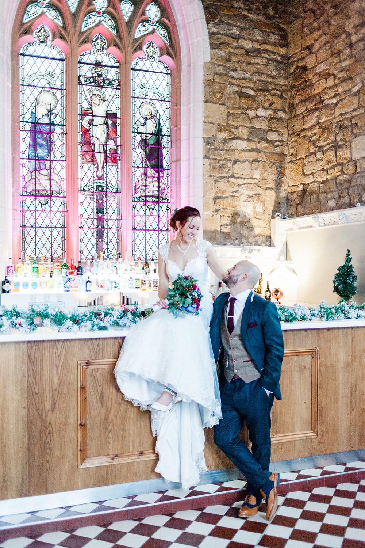 Reception at The Church Restaurant by Northampton wedding photographer