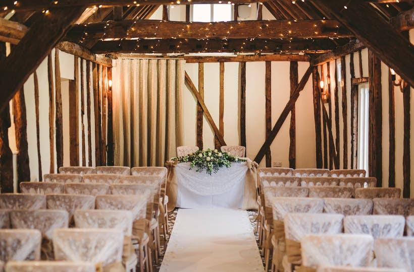 The Waltham Barn intimate wedding venue in Essex