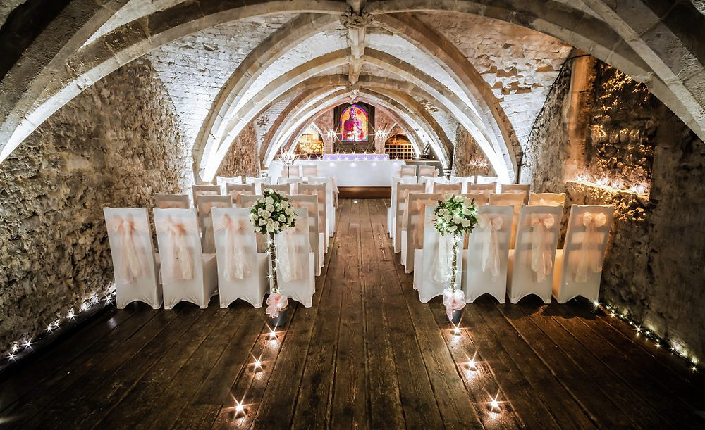 George Vaults Rochester Kent intimate wedding venue