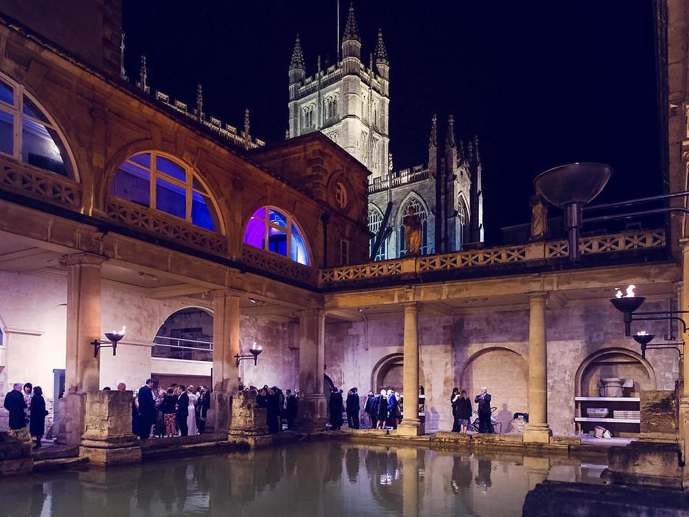Roman Baths Bath Somerset unique historical wedding venue