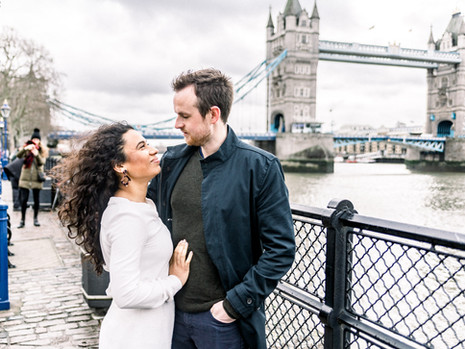 Engagement shoot: Ed & Sabeha, Tower Bridge and St Dunstan-in-the-East