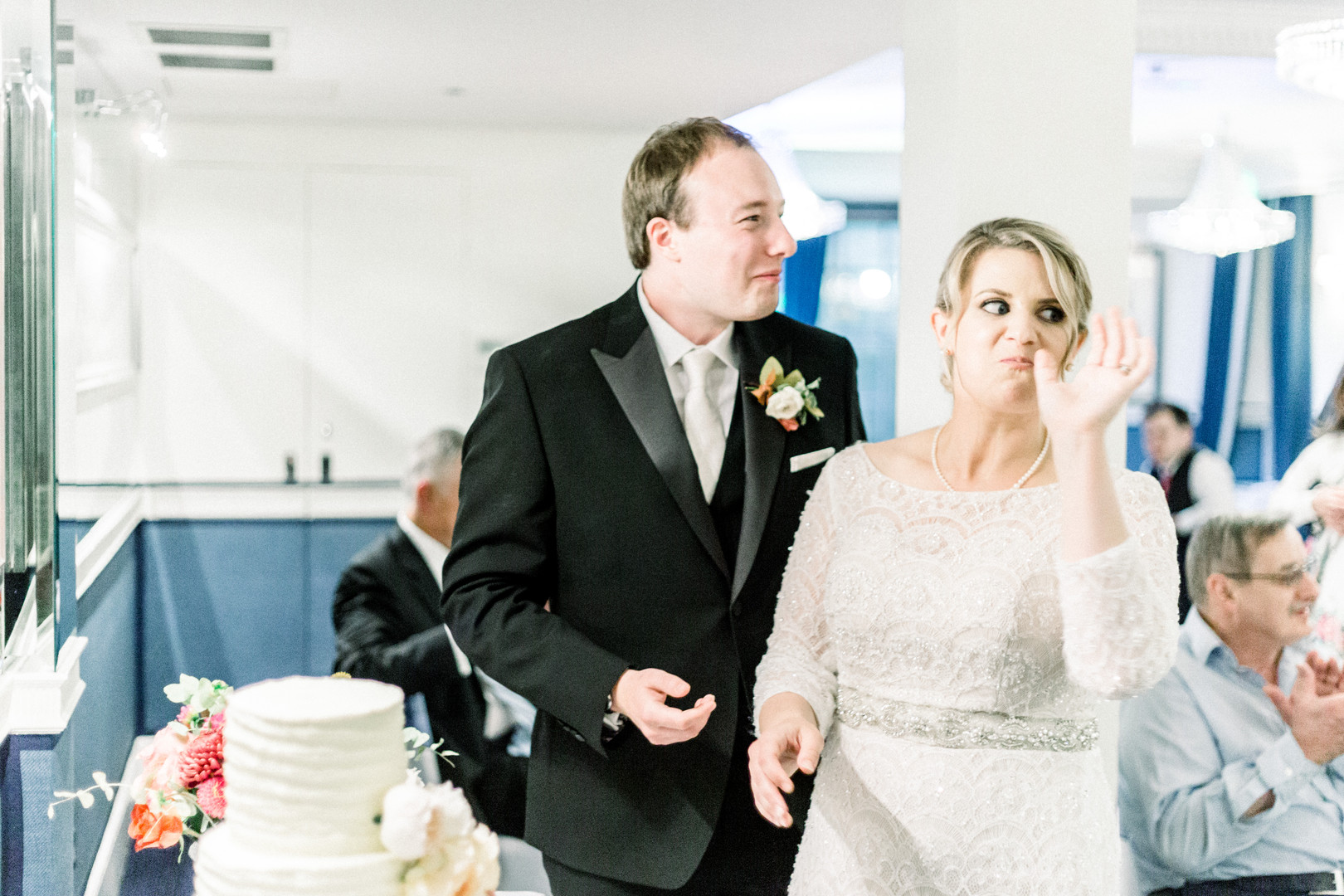 Fun wedding photography at Chesterfield Hotel London