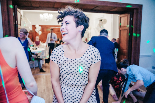 Evening wedding reception guests having fun at Holbrook Manor in Somerset