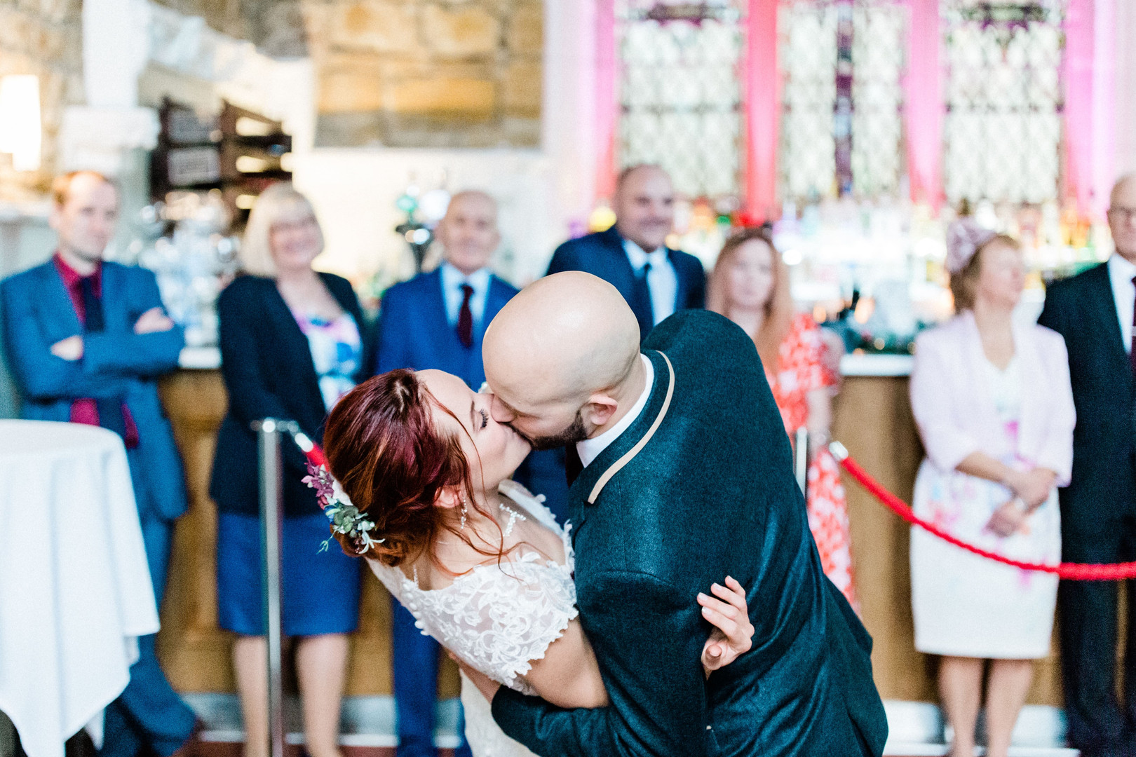 Romantic first dance photo at Church Restaurant Northampton