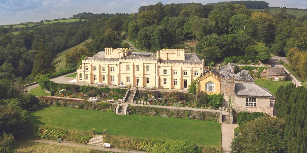 Pentillie Castle Cornwall intimate wedding venue