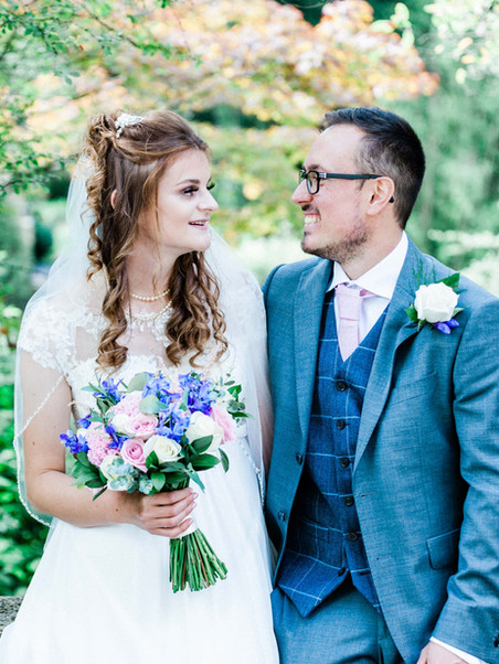 Wedding photograph in Royal Victoria Park, Bath, natural shot of bride and groom