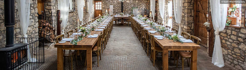 Intimate weddings in the Barn at Old Down Estate