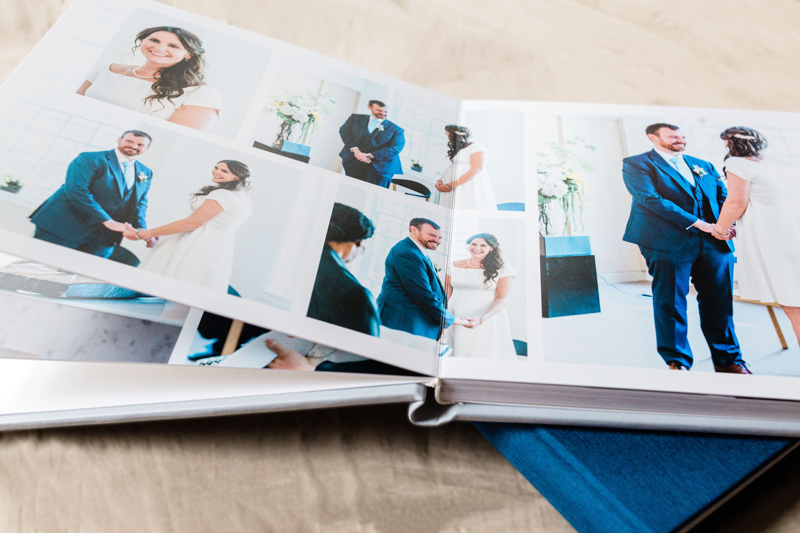 Layflat luxury wedding photo album