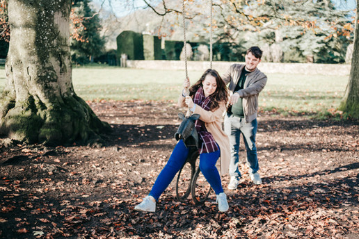 Fun Montacute House engagement photography in Yeovil