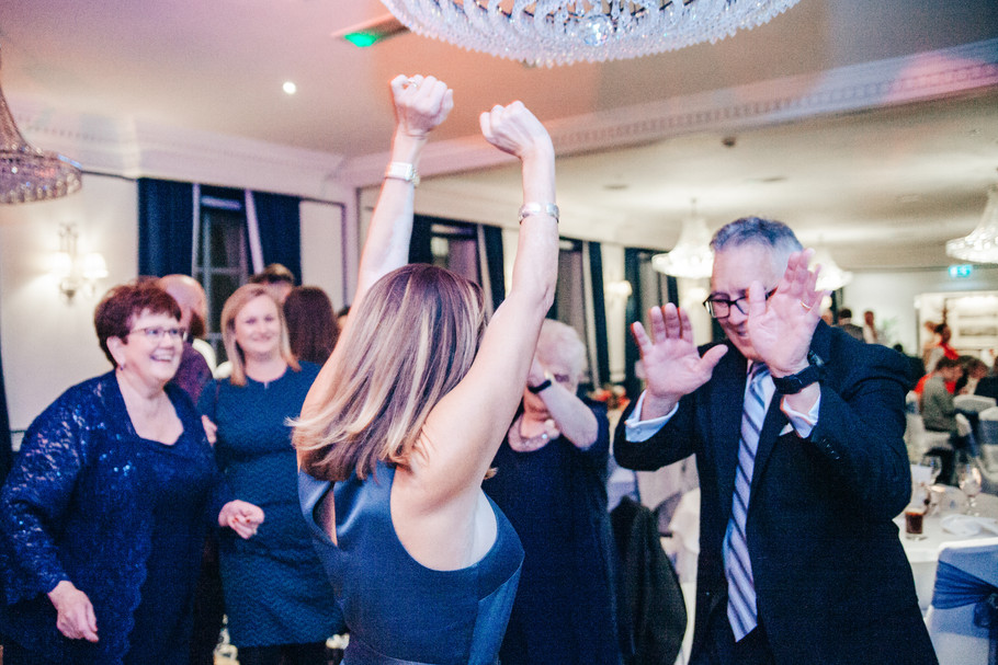 Guests dancing the night away at Chesterfield Hotel London wedding