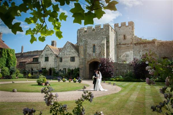Amberley Castle West Sussex intimate wedding venue