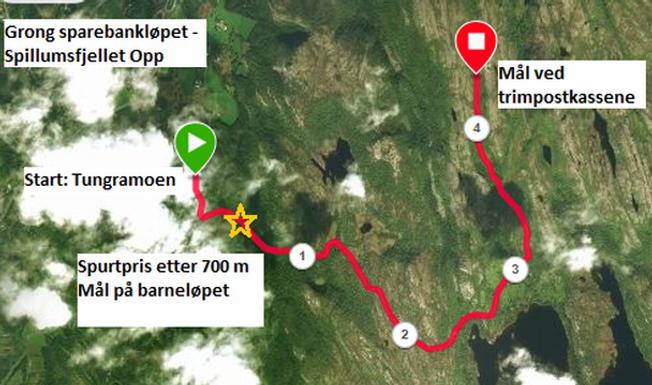 Ukas løp uke 25 - Spillumsfjellet opp