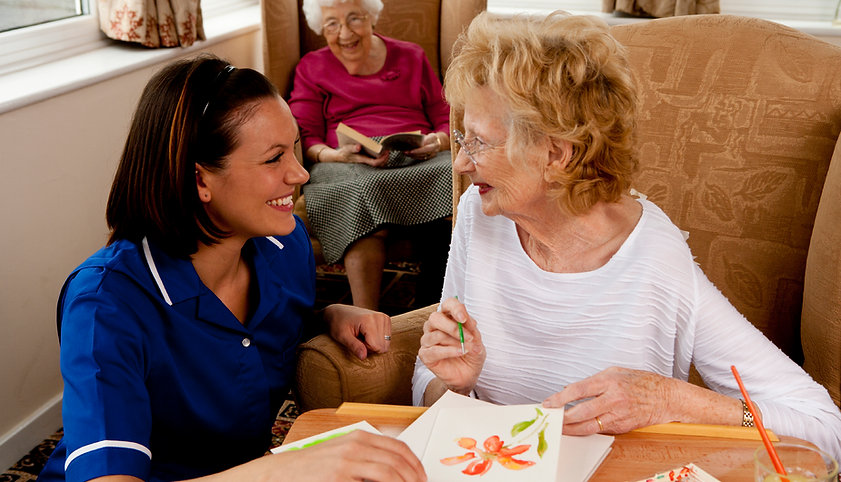 Harford caregiver and an assisted living resident