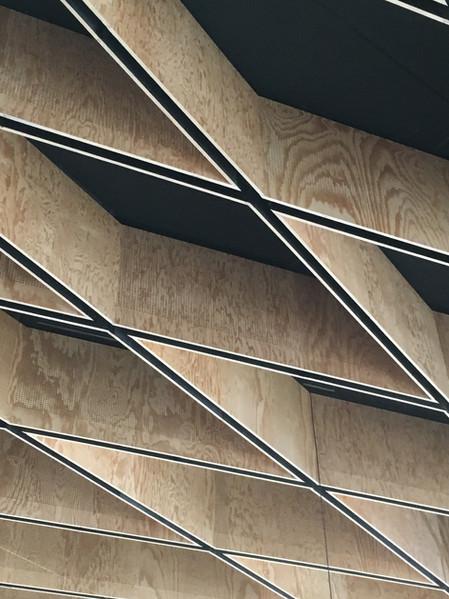 matérialité - détail de plafond