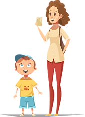 сын и мама -Зоопарк в Иркутске