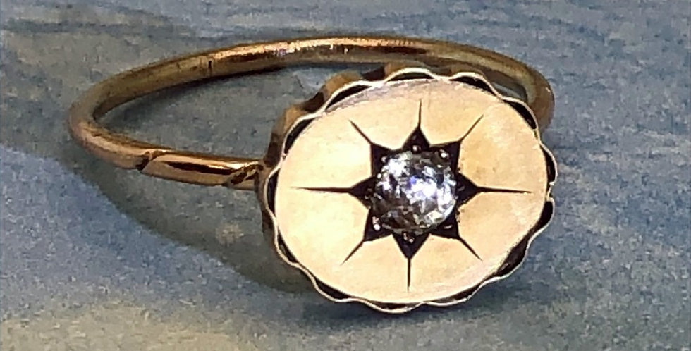 Edwardian oval disk ring conversion