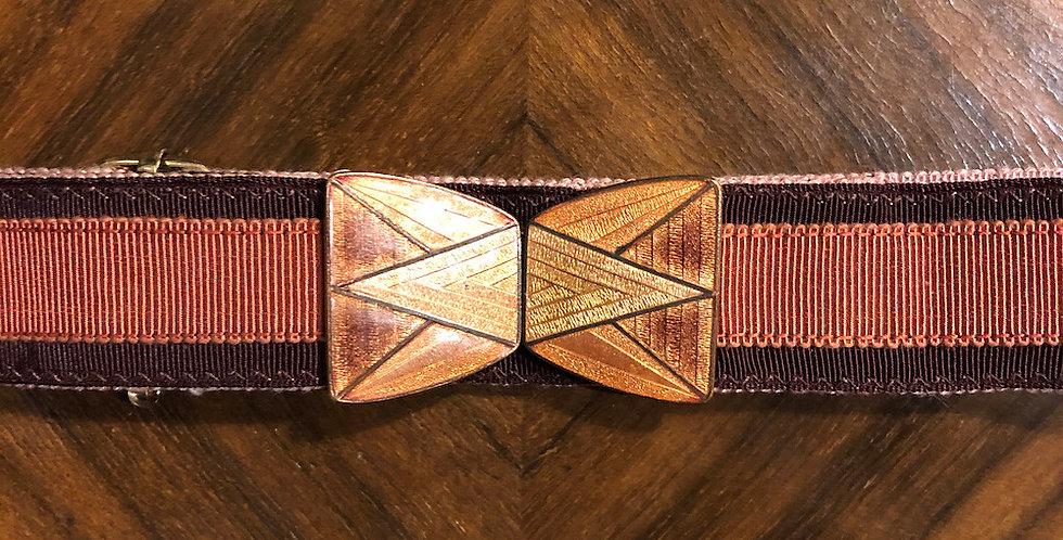 Deco rust & burgundy belt