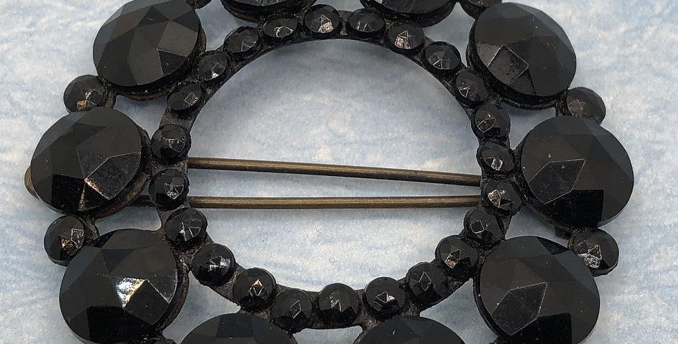 Original Art Nouveau Vauxhall glass circular hair clip